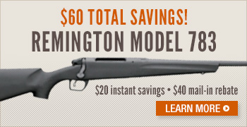 Remington Model 783 Bolt Action Rifle Savings
