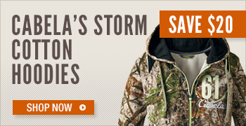 Cabela's Storm Cotton Hoodies
