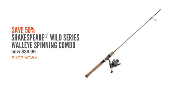 Shakespeare® Wild Series Walleye Spinning Combo