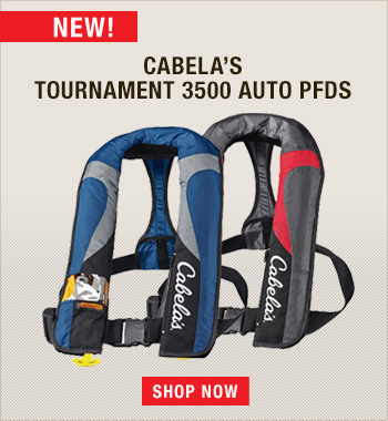 New Cabela's Tournament 3500 Auto-Inflatable PFDs
