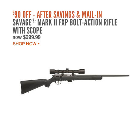 Savage® Mark II FXP Bolt-Action Rifle with Scope