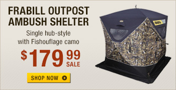 Frabill Ambush Fishouflage Hub Style Ice Fishing Shelters
