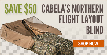 Save $50 Cabela's Northern Flight Layout Blind