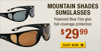 Mountain Shades Blue Fin Polarized Sunglasses