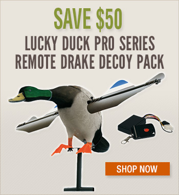 Lucky Duck Pro Series Remote Drake Decoy Pack