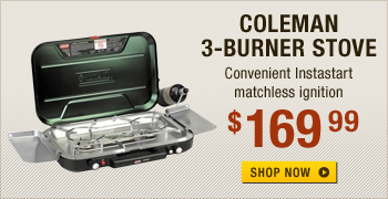 Coleman 3-Burner Eventemp Instastart Camp Stove